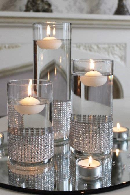 floating candle centerpieces mirror centerpiece glass