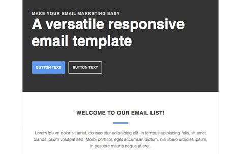how to create a responsive email template responsive newsletter email template medialoot