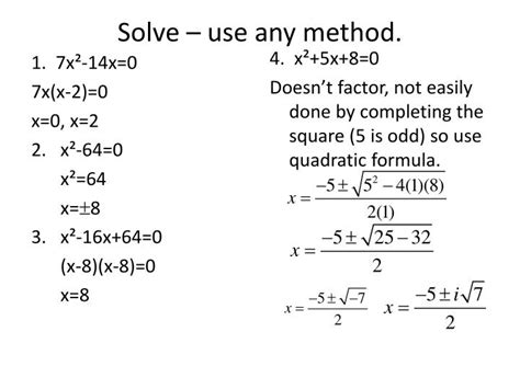 solving single how to get the ring not the run around books ppt 4 6 the quadratic formula and the discriminant