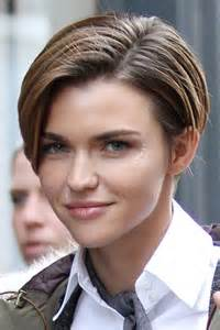 Brown all over highlights angled bob bob hairstyle steal her style
