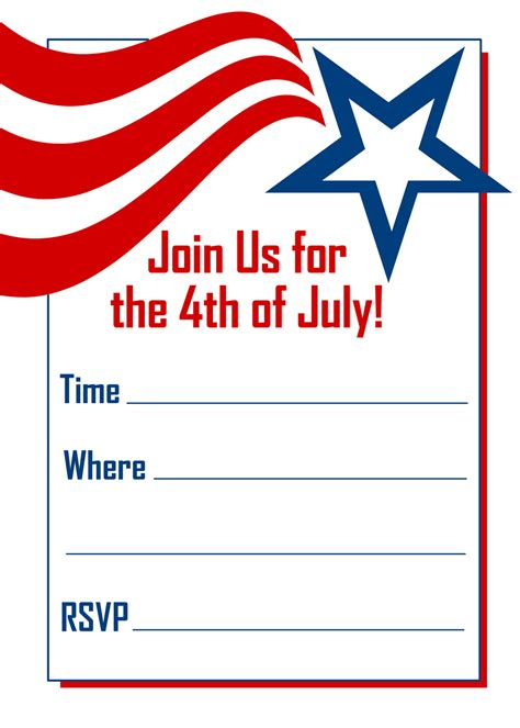 4th of july invitation templates fourth of july invitations template best template collection