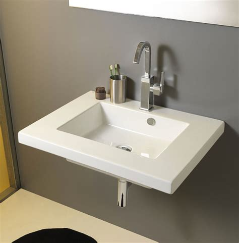 built in bathroom sink sleek rectangular wall mounted vessel or built in