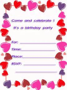 sweet hearts free printable 10th birthday invitations http www printfreecards net