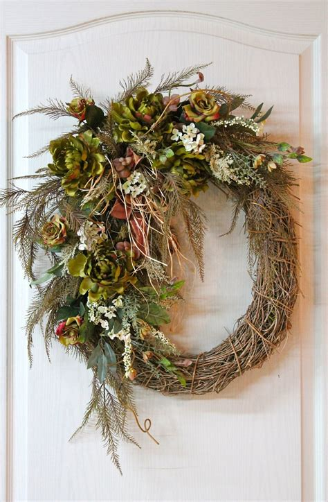 Country Wreaths For Front Door Front Door Wreath Country Wreath Summer Wreath Fall Wreath Rustic Wreath Green Peonies