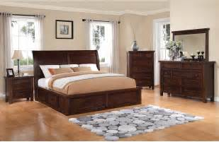 Modern Italian Bedroom Set - sonoma 8 piece king storage bedroom set dark brown the brick