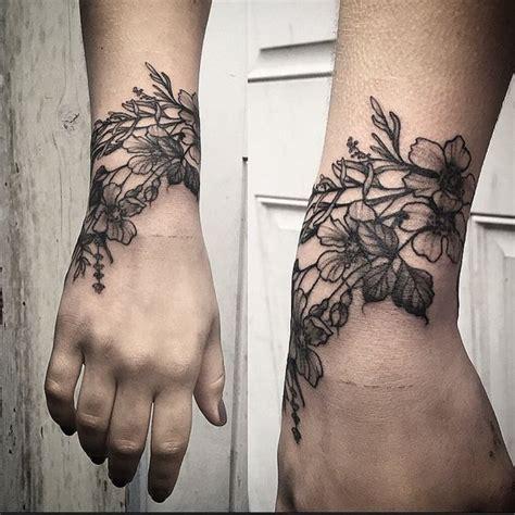 tattoo wrist wrap wild flower cuff by annelise sweetleas ig tatties