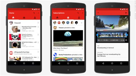 layout android youtube youtube overhauls smartphone apps