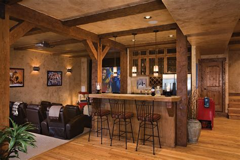 basement homes bar and theater for entertaining guests