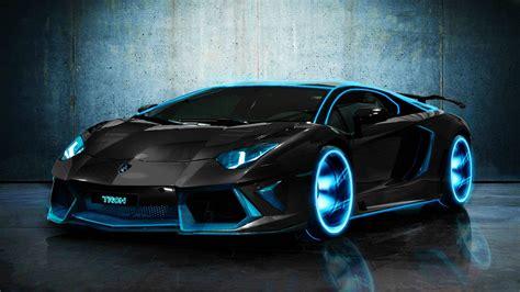 black  blue lamborghini  car