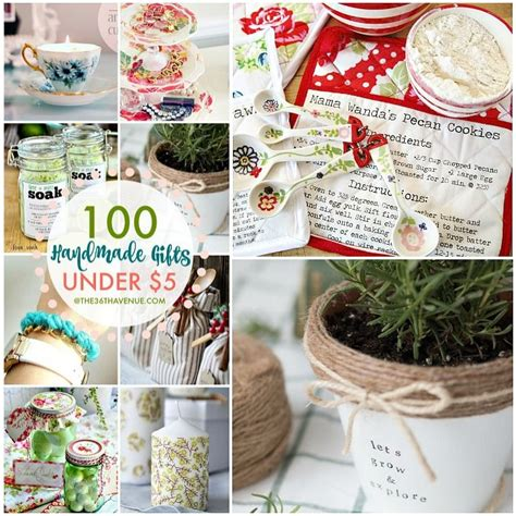 100 handmade gifts under five dollars birthdays