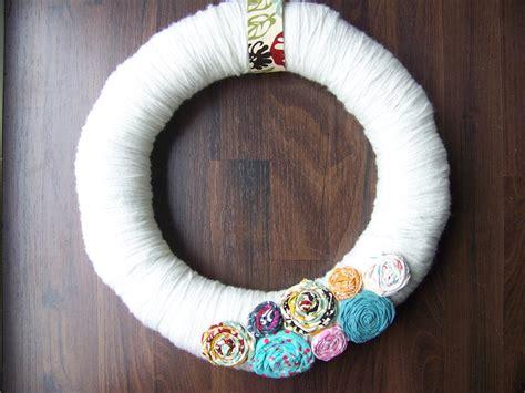 fabric crafts spring fabric flower wreath allfreeholidaycrafts