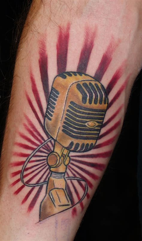 tattoo old school microphone microphone tattoos designs ideas and meaning tattoos