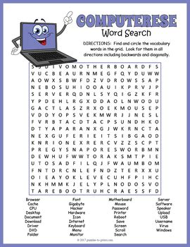 Printable Word Search Computer Terms | computer word search www pixshark com images galleries