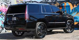 Cadillac On 30 Inch Rims Cadillac Escalade On 30 Inch Forgiato Wheels