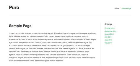 page templates puro