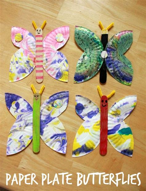 paper plate arts and crafts for a paper plate butterfly craft an easy and creative idea