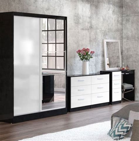 White And Black Gloss Bedroom Furniture Bedroom Furniture