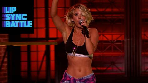 celebrity skin lip sync watch this clip of kaley cuoco lip syncing ludacris