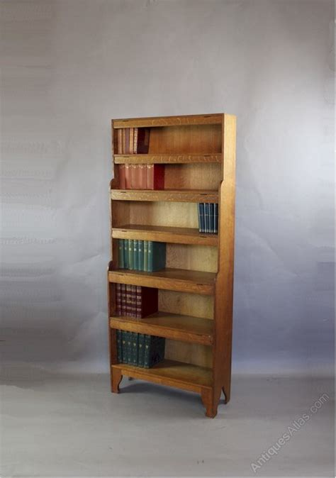 arts and crafts oak bookcase by arthur antiques