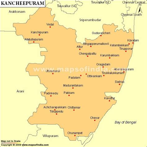 tsmil mp kancheepuram parliamentary constituency map election