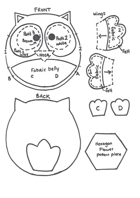 printable owl template for 8 best images of owl printable template martha stewart