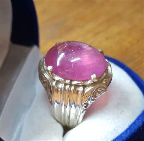 Asli Cincin Perak Batu Paridot cincin permata gewang cincin perak batu permata delima