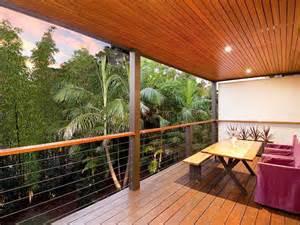 Mid Century Modern Exterior indoor outdoor outdoor living design with balcony