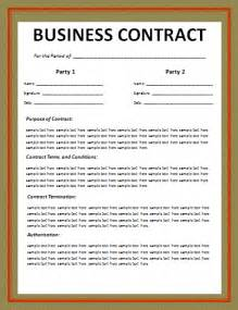 Small Business Contract Template Business Contract Layout Free Word Templates