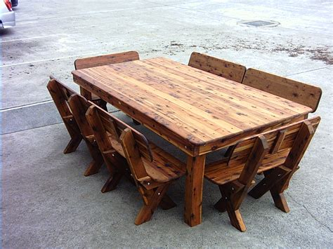 diy outdoor wood table excellent rustic wood outdoor furniture image design