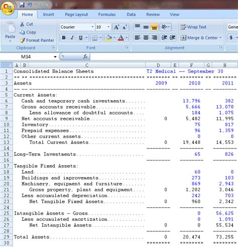 financial ratio analysis template excel computerized investing