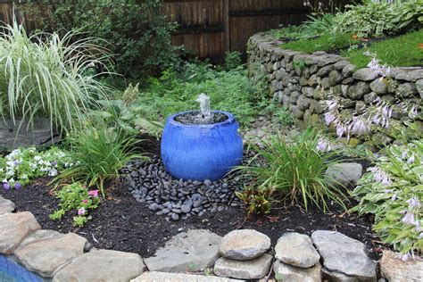 How To Landscape A Backyard by Landscaping Around Water Fountains Backyard Design Ideas