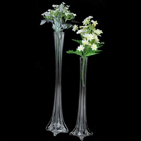 Wedding Vases In Bulk by Bulk Lot 12 X Clear Glass Eiffel Tower Vases Wedding