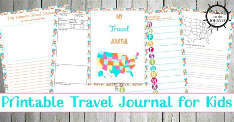 printable vacation journal for students printable travel journal for kids to record vacation memories