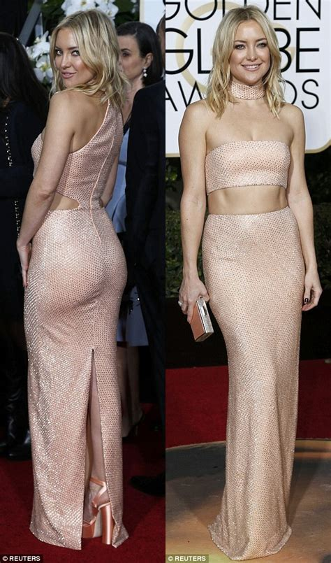 Thief Steals Golden Globe Shoes by Kate Hudson Steals The Spotlight In Belly Baring
