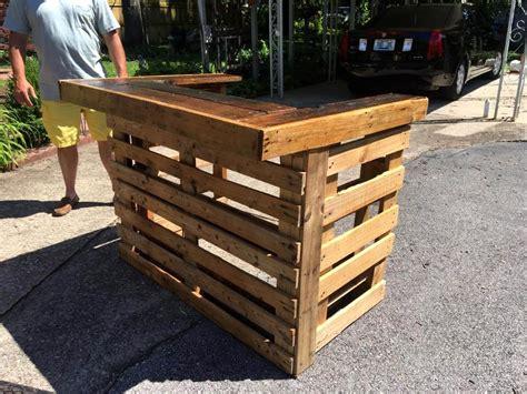 Handmade Bar - 50 best loved pallet bar ideas projects