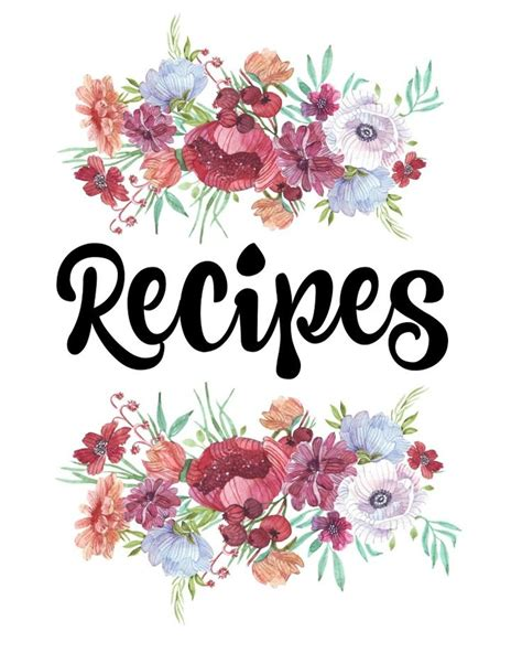 cookbook covers template finally organize your recipes with this free printable
