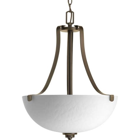 Progress Lighting Seeded Glass Collection 3 Light Antique Foyer Pendant Lighting