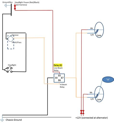 how to wire headlights to a toggle switch wiring diagram