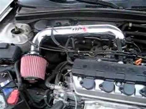 2001 honda civic cold air intake hps shortram air intake kit installed 2001 honda civic lx