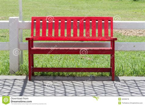 the red bench red bench in the garden royalty free stock photos image