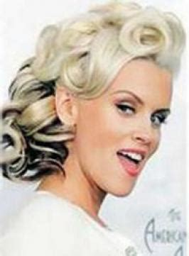50s hairstyles pin curls pictures jenny mccarthy jennys pinup updo