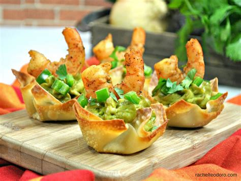 appetizers shrimp shrimp avocado wonton cup appetizer recipe teodoro
