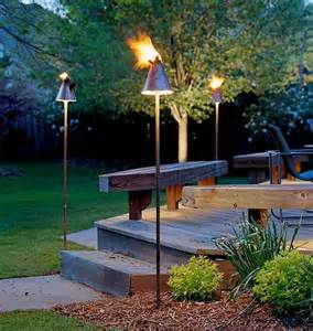 Patio Torch Lights Outdoor Inspiration Cool Tiki Torches To Light Up Your Magical Evenings