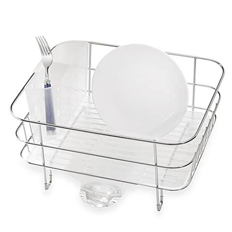 buy simplehuman 174 compact stainless steel dish rack from - Simplehuman Compact Dish Rack