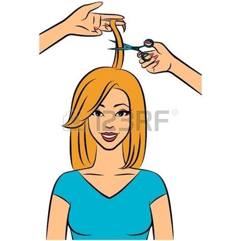 haircut cartoon girl haircutting clipart clipground