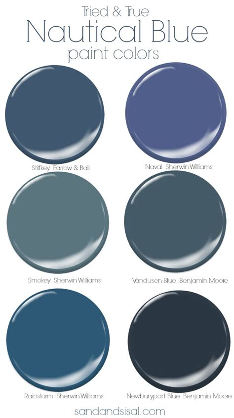 tried and true nautical blue paint colors coastal colors