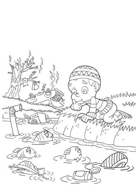 coloring pages water pollution water pollution coloring pages coloring home