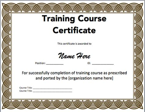 Microsoft Word Certificate Templates 15 Training Certificate Templates Free Download Designyep