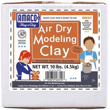 amaco air dry modeling clay  lbs terra cotta