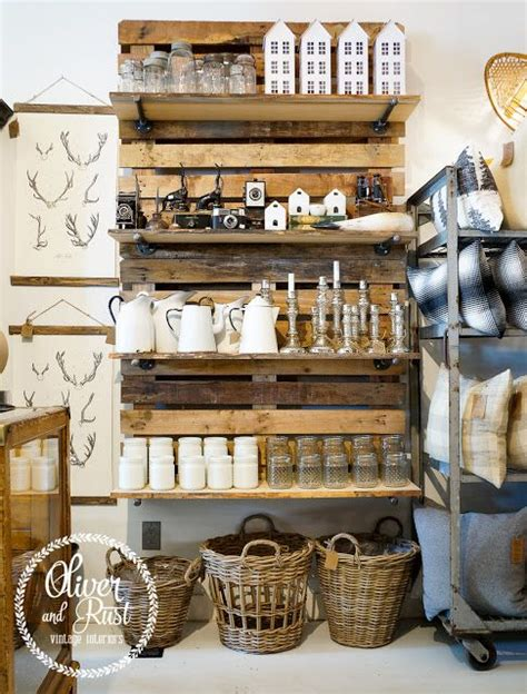 awesome pallet shelving and retail on